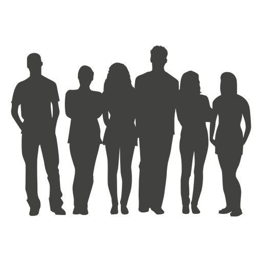 512x512 People Group Silhouette
