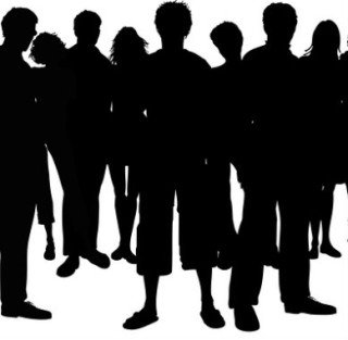 320x313 Crowd People Silhouette Square