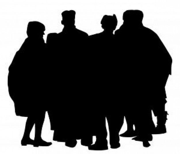 626x536 Crowd Silhouette Photo Free Download