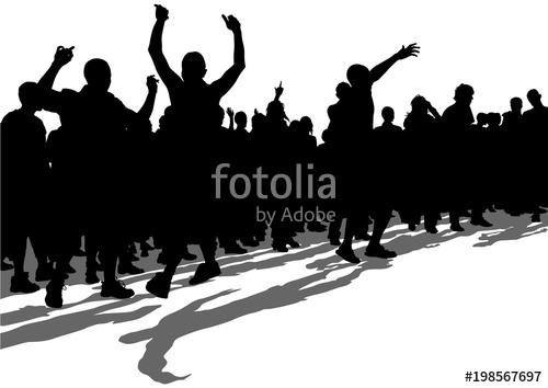 500x354 Crowd Of Spectators