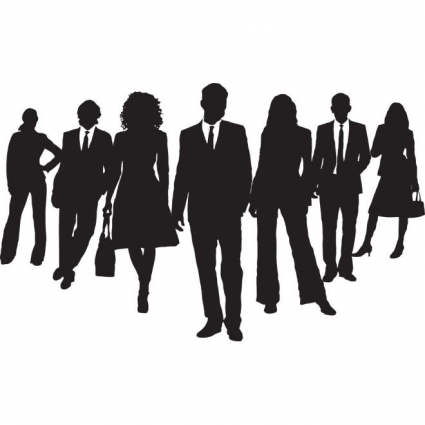 425x425 People In Groups Silhouettes Free Vectors Ui Download