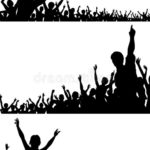 150x150 Silhouette Vector Crowd Crowds Silhouettes Download Free Vector