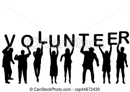 450x319 Volunteer Concept With People Silhouettes Holding Letters