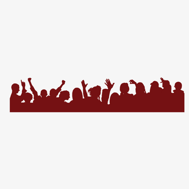 650x651 Crowds Of People Silhouette, Audience, Celebrate, Crowd Png