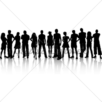 325x325 Huge Crowd Of People Gl Stock Images