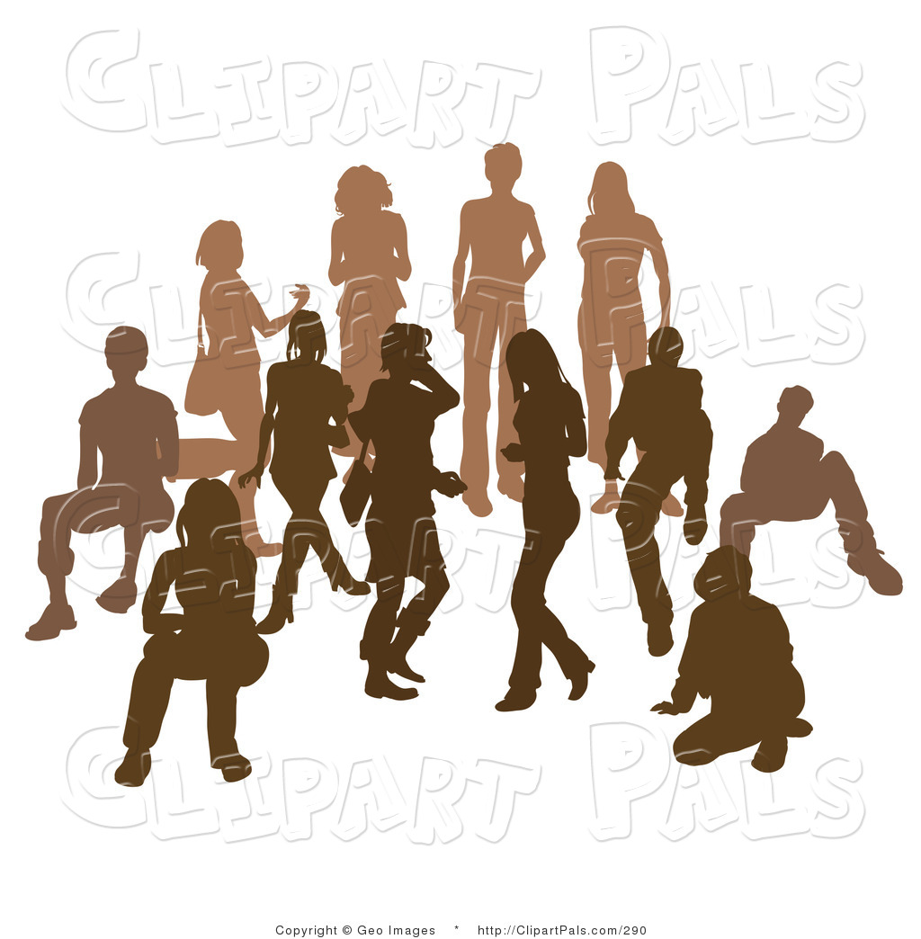 1024x1044 Pal Clipart Of People In A Crowd Silhouetted In Dark Brown
