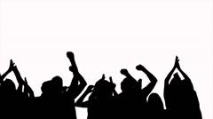 240x134 Concert Crowd Silhouette ~ Hi Res Video