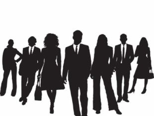 310x233 Vector Silhouette Business Man And Women Group Free Vectors Ui