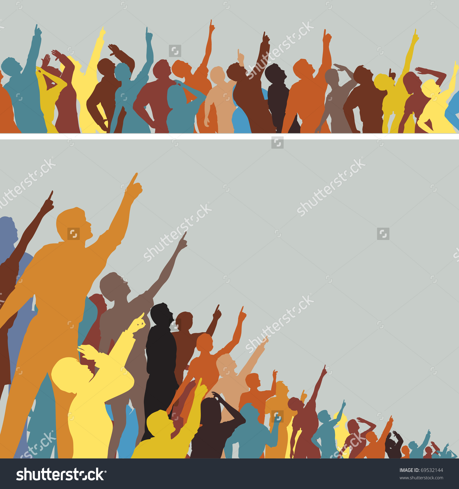 1500x1600 Of People Pointing Up Clipart