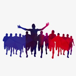 300x300 Crowd, Run, Blue, Red Png Image And Clipart For Free Download