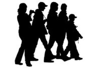 191x135 Crowd Of People In Team Icon Silhouettes Premium Clipart