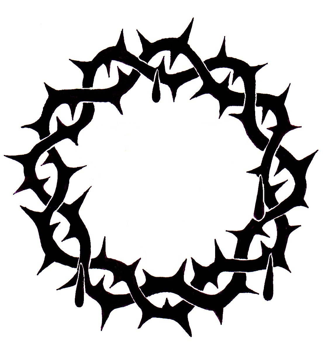 1112x1180 Free Crown Of Thorns Clipart