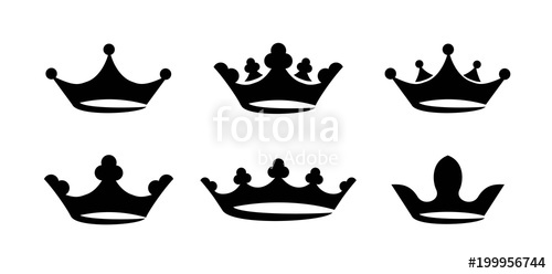 500x248 Crown Icon Set Vector Stock Image And Royalty Free Vector Files