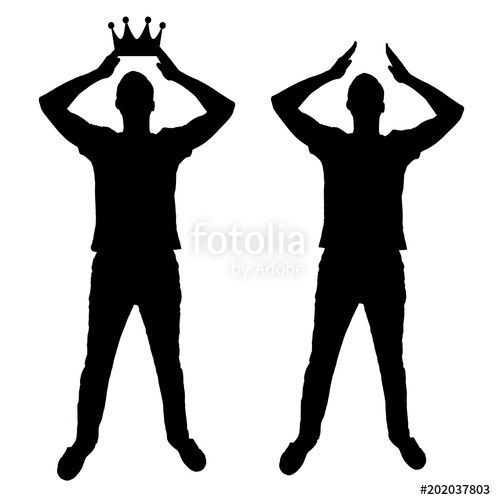 496x500 Silhouette Vector Of A Selfish And Narcissistic Man Reconciling