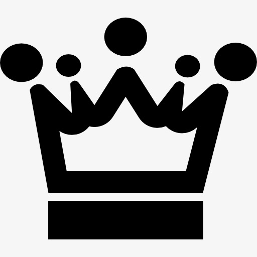 512x512 Black Silhouette, Black Crown, Crown, Graph Png Image And Clipart