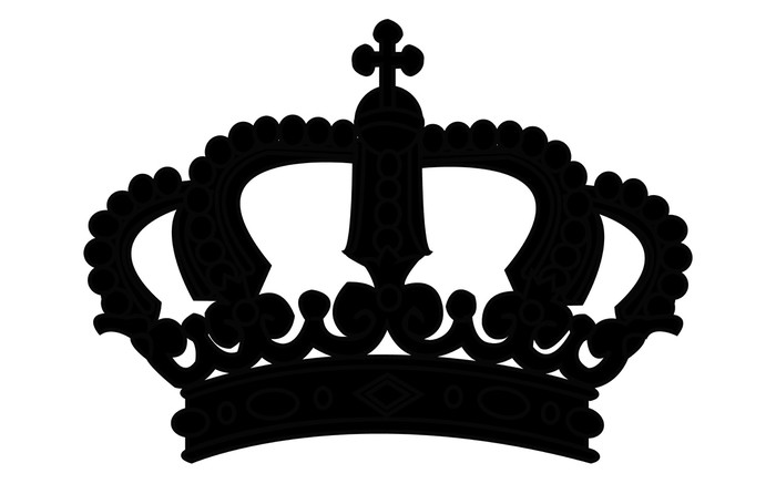 700x446 Crown Silhouette On White
