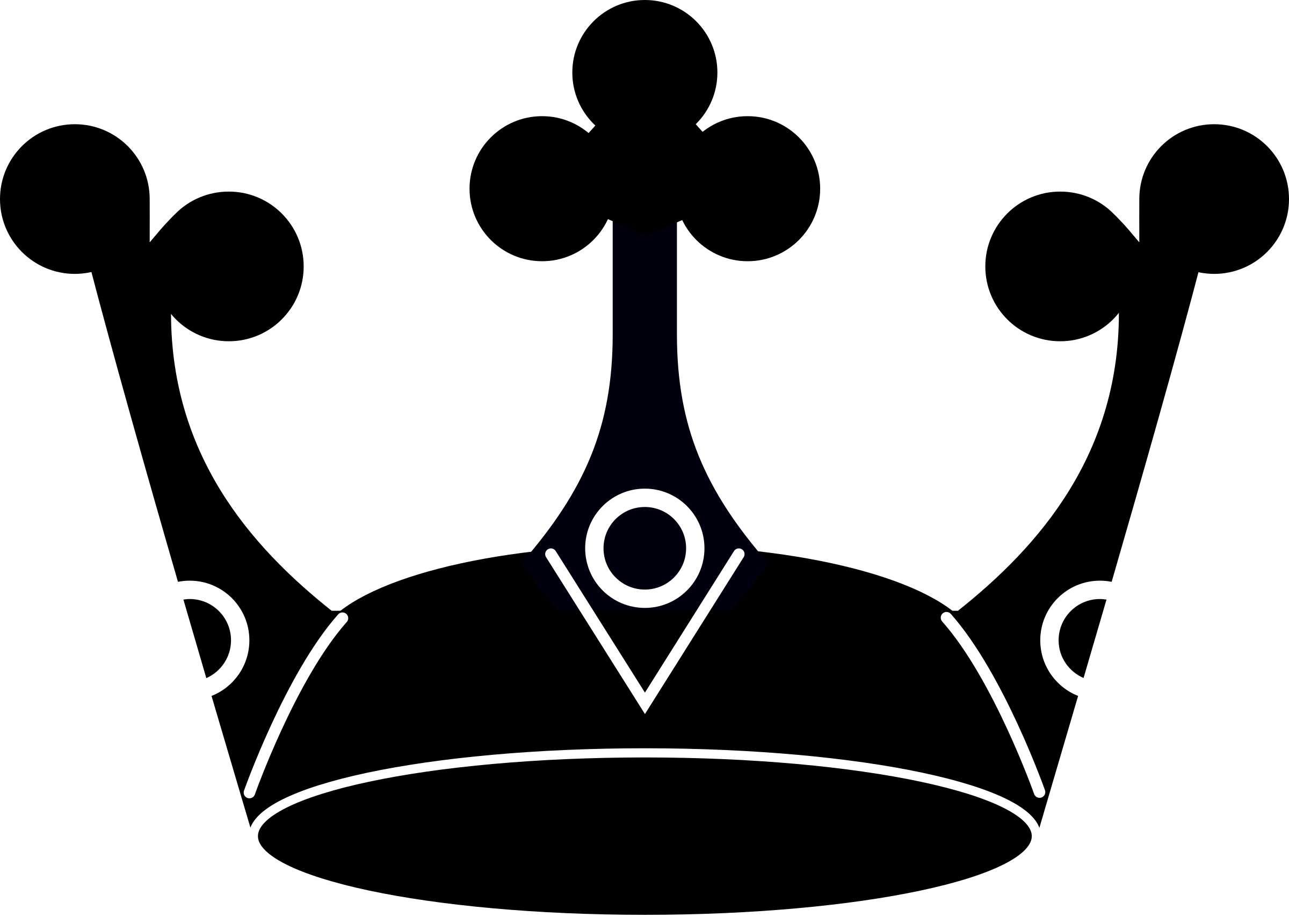 2400x1721 Download Royal Crown Silhouette