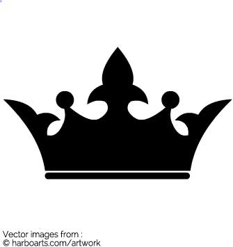 335x355 Download Silhouette Of Crown