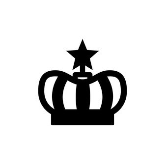 340x340 Free Silhouette Vector Crown, Icon