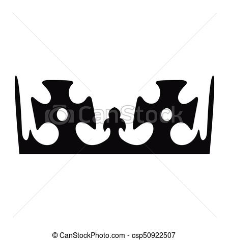 450x470 Isolated Crown Silhouette. Isolated Silhouette Of A Crown