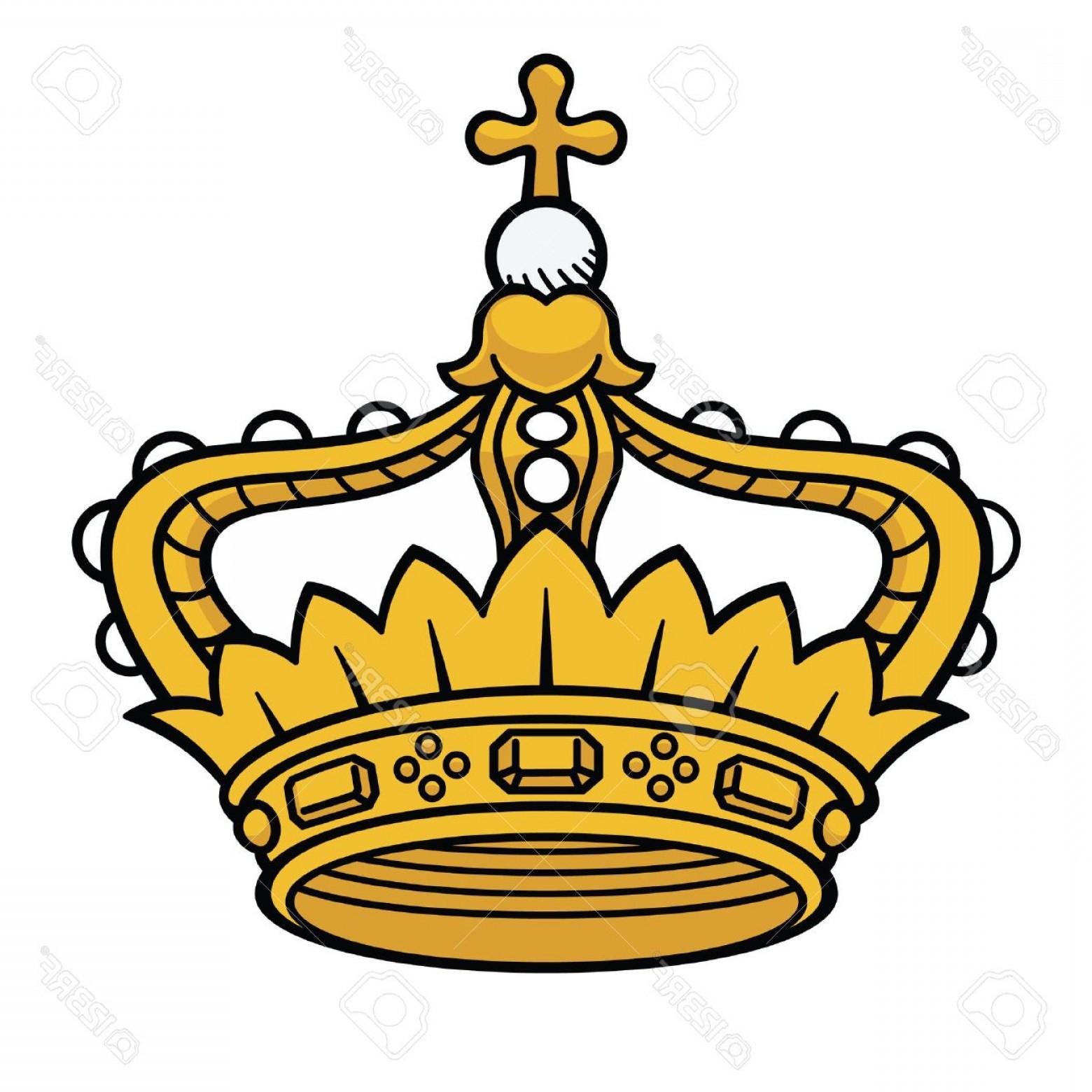 1560x1560 Photostock Vector Golden Queen Crown Vector Isolated Medieval