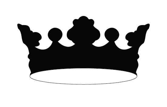550x354 Crown Silhouette Vector