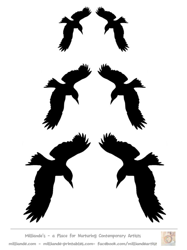 618x824 Crows Flying Clipart
