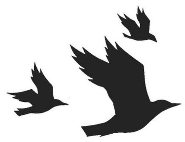 600x461 Flying Crow Silhouette Clipart