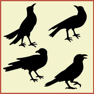 303x304 Free Primitive Crow Pattern