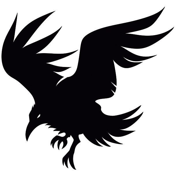 610x610 Collection Of Crows Silhouette Tattoos