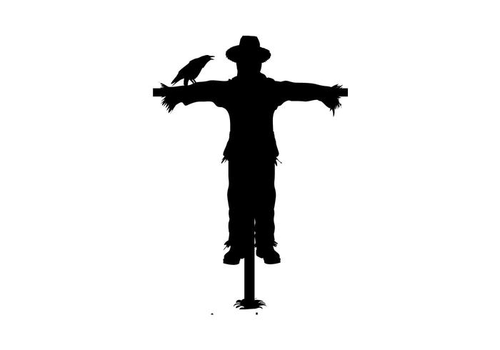 700x490 Free Scarecrow Silhouette Vector