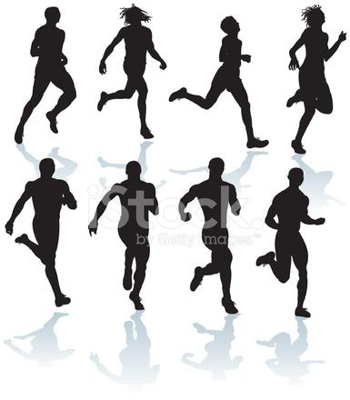 385x440 Pista Y Campo O El Jogging Y Cross Country Corredores Masculinos