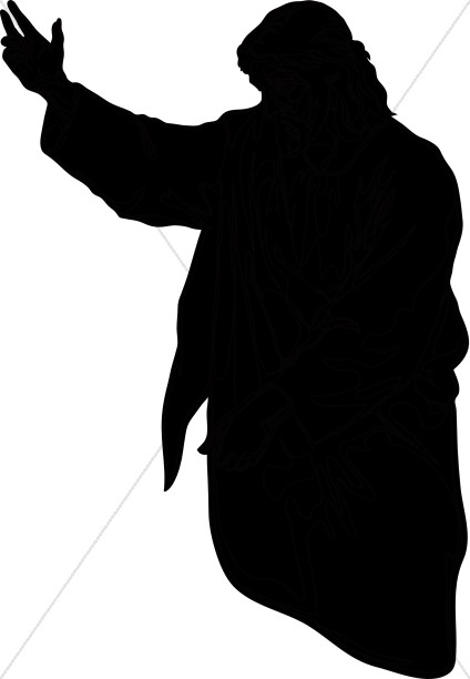 424x612 Clipart Silhouette Of Christ