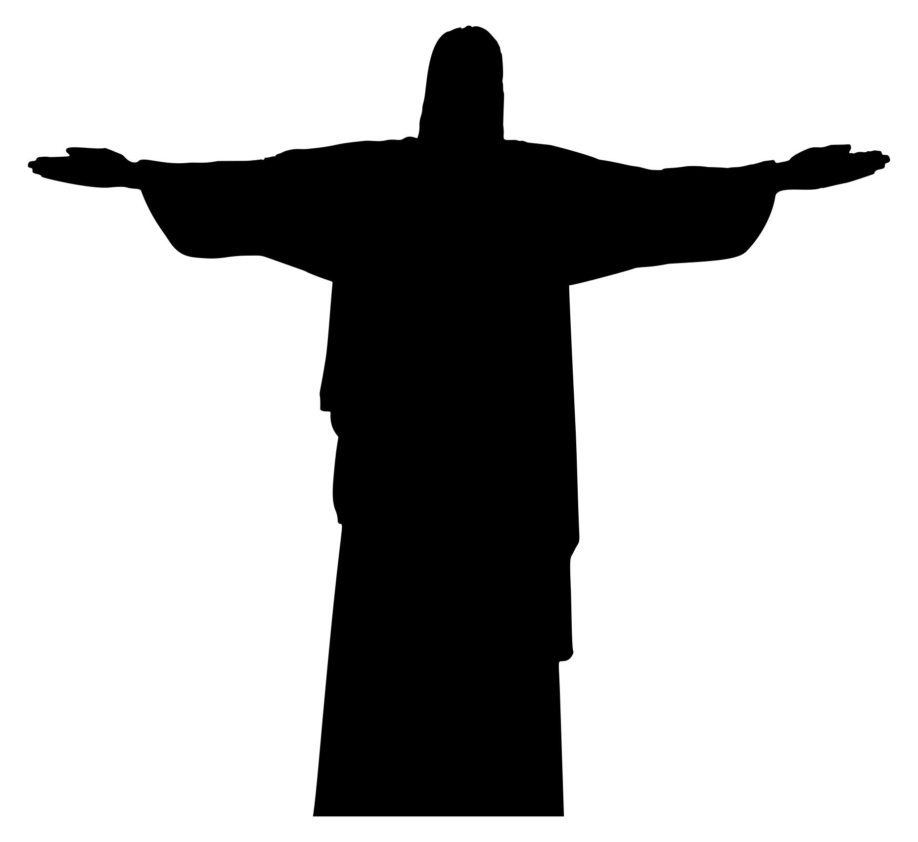 1856x1703 Christ The Redeemer Statue Silhouette Clipart