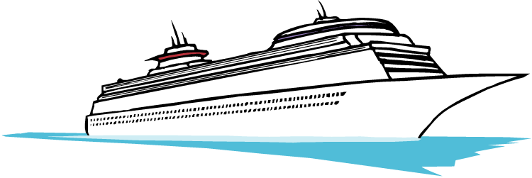 750x251 Cruise Ship Outline Free Download Clip Art