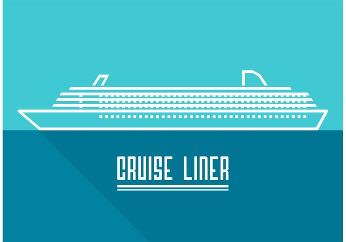 700x490 Line Cruise Liner Vector