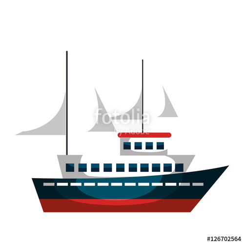500x500 Cruise Ship Silhouette Isolated Icon Vector Illustration Design