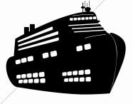 187x146 Cruise Ship Silhouette Laser Cut Appliques