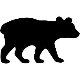 263x262 Bear Cub Silhouette Decal Business Silhouettes