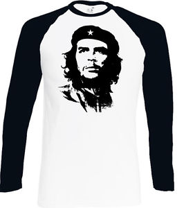 266x300 Che Guevara Face Silhouette Mens Iconic Baseball T Shirt Freedom