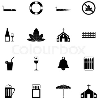 320x320 Cube Illustration. Vector Icons Of Cuban Culture And Architecture