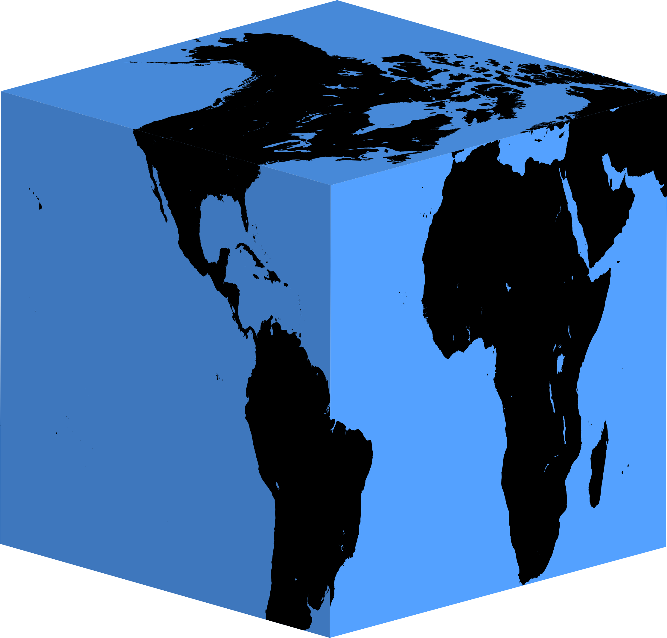 2230x2132 Cube Earth Silhouette Icons Png