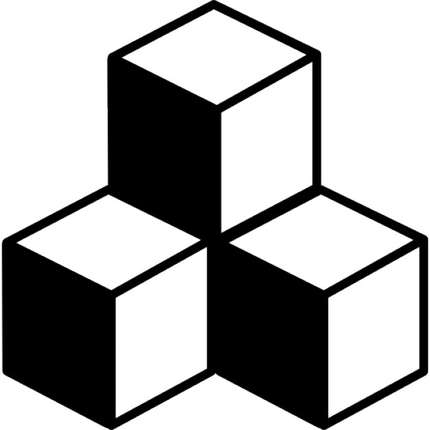 626x626 Cubes In Stack With Shadow Icons Free Download