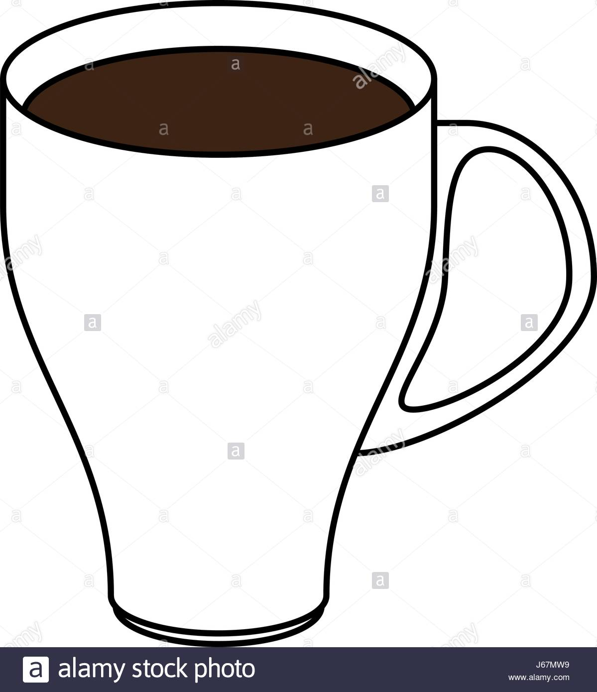 1199x1390 Color Silhouette Image Cartoon Porcelain Modern Cup Of Coffee