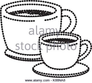 355x320 Silhouette Big Mug With Handle Vector Illustration Stock Vector