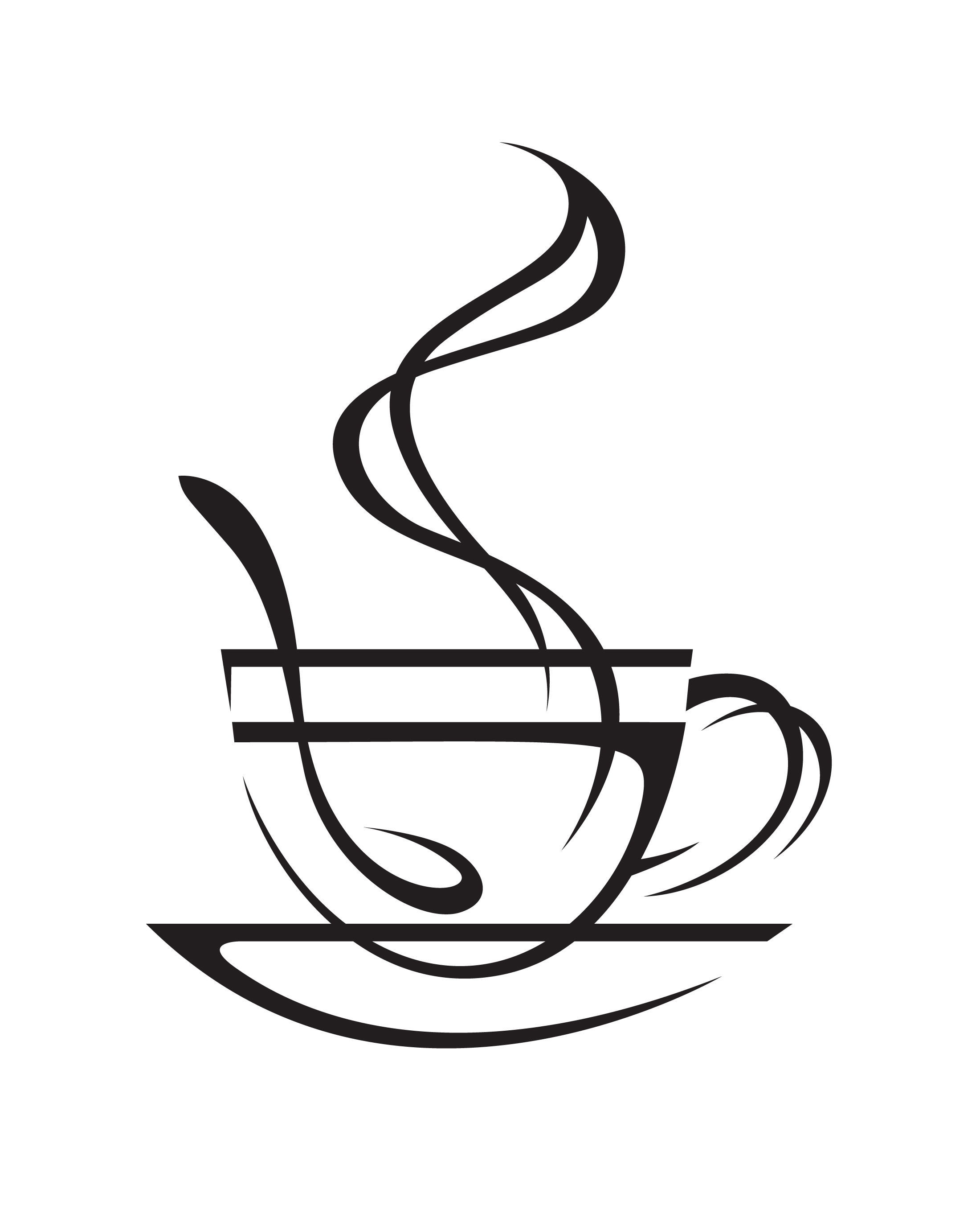 2200x2750 Drawn Coffee Silhouette Png 3290066