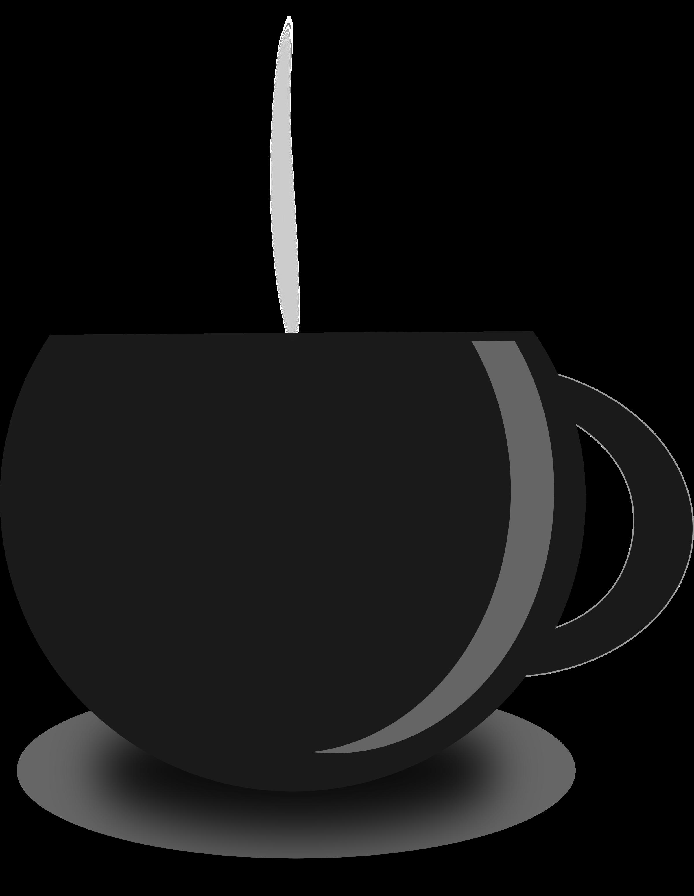 2400x3099 Fancy Tea Cup Silhouette Clipart