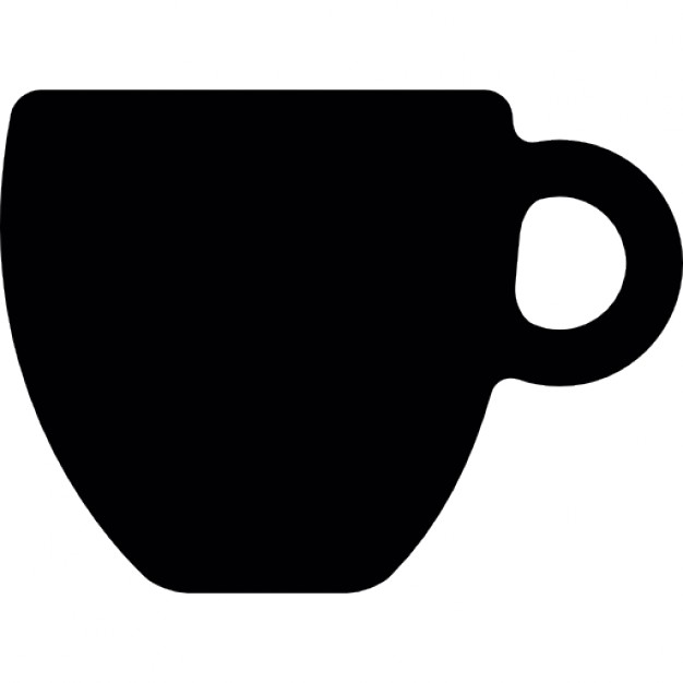 626x626 Black Cup Silhouette Icons Free Download