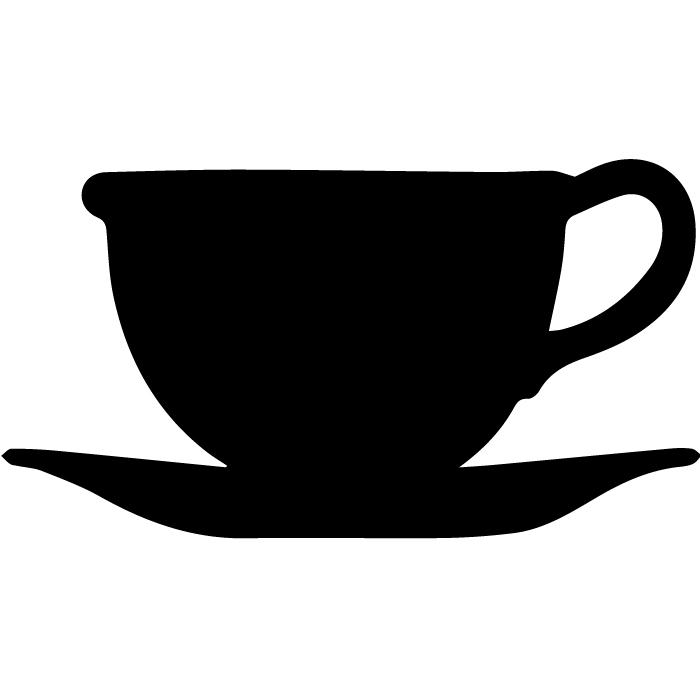 700x700 Teacup Clipart Silhouette