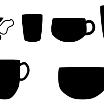 340x340 Coffee Cup Silhouette Vector Free 123freevectors